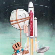 "Load image into Gallery viewer, ""Moon and Back"" Giclée"