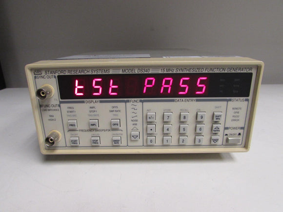 Stanford Research DS340 Synthesized Function Generator, 15 MHz