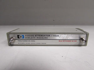 Agilent 33322G programmable attenuator OPT 011 DC-4GHz 110dB Max 1W CW