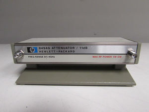 Agilent HP 8494G Programmable Step Attenuator, DC to 4 GHz, 0 to 11 dB, opt 002