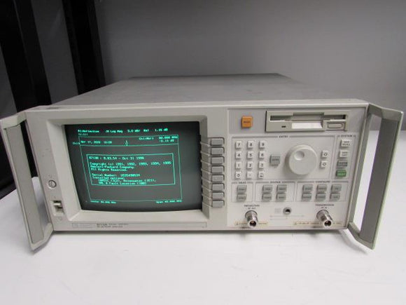 Agilent 8713B Network Analyzer, 300kHz to 3GHz, opt 1C2, 1E1, 100 w/ manual set