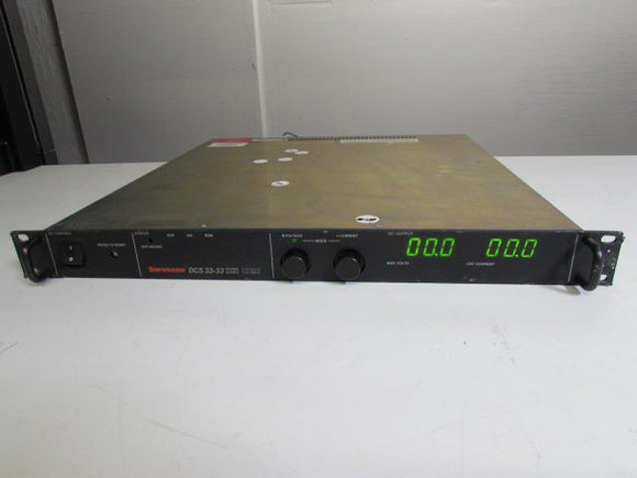 Sorensen DCS33-33 Power Supply 33V, 33A