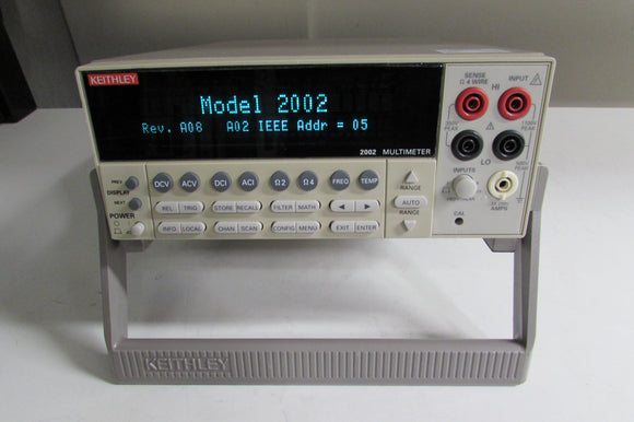 Keithley 2002 High-Performance, 8-1/2-Digit DMM w/ 8k Memory, calibrated