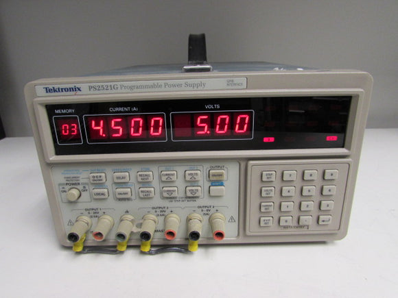 Tektronix PS2521G Programmable Power Supply, 20V/2.5A,6V/5A