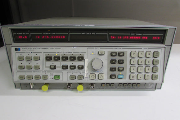 Agilent 8340A Synthesized Sweep Signal Generator, 10MHz to 26.5GHz, Opt. 005