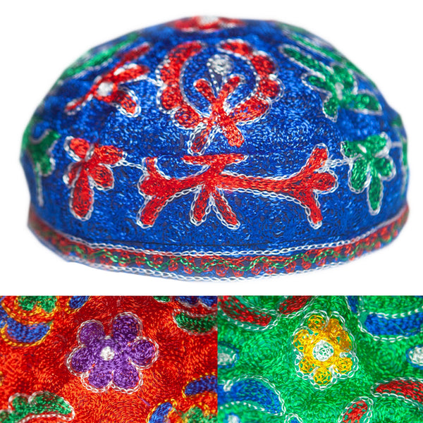 Colorful Sufi cap / kufi (light fabric)