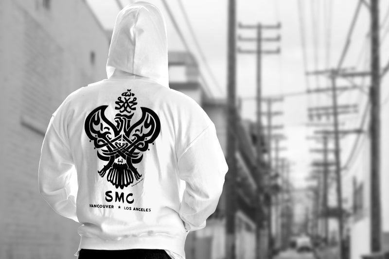 SMC Hooded Pullover, White