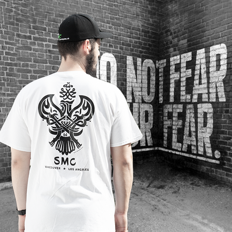 Sufi Meditation T-Shirt (Black / White) with Iconic Phoenix Design