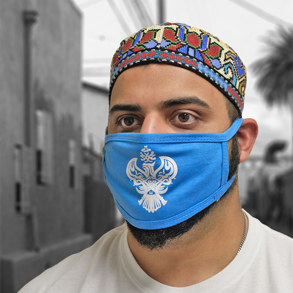 SMC Mask Face Covering with blessed Phoenix (Blue, Black & Pink)