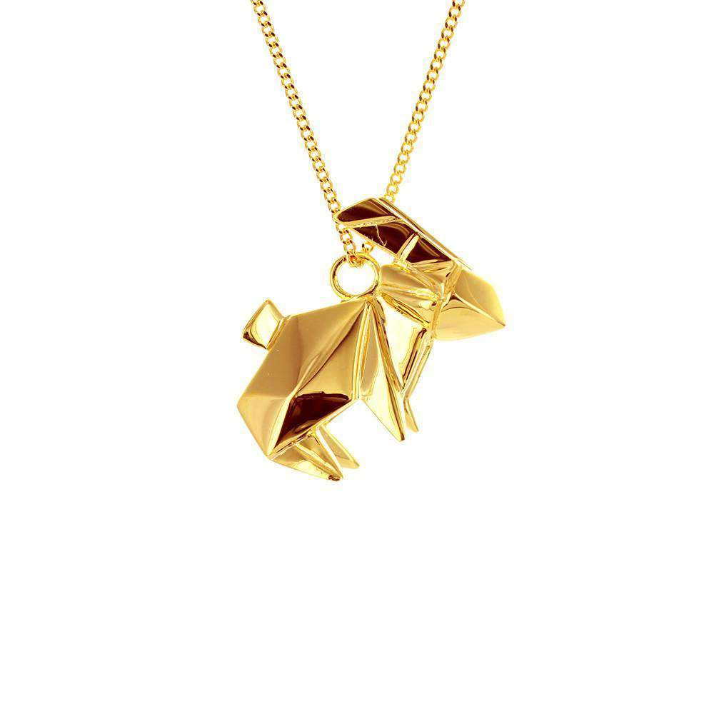 Rabbit Necklace - Origami Jewellery - THE POMMIER - 4