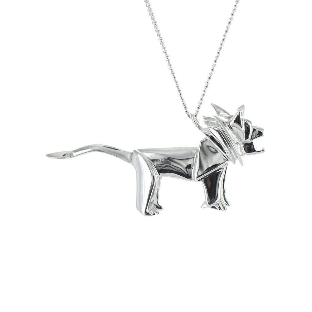 Lion Necklace - Origami Jewellery - THE POMMIER - 2