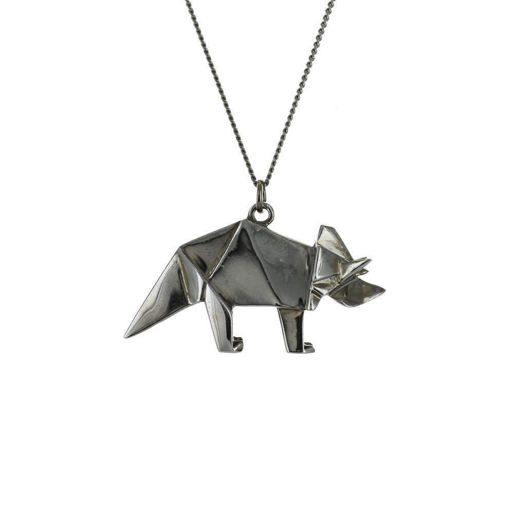 Triceratops Necklace - Origami Jewellery - THE POMMIER - 3