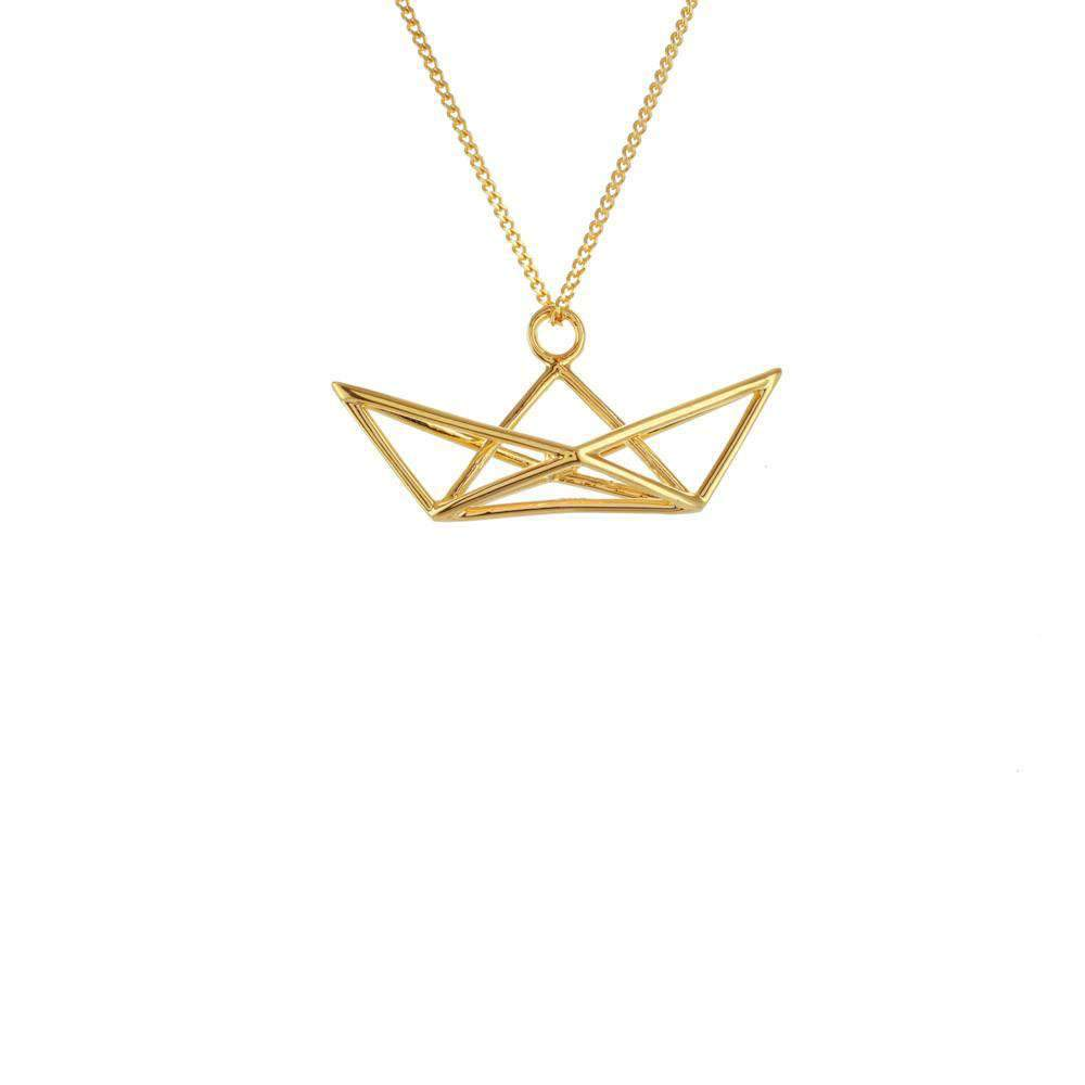 Frame Boat Necklace