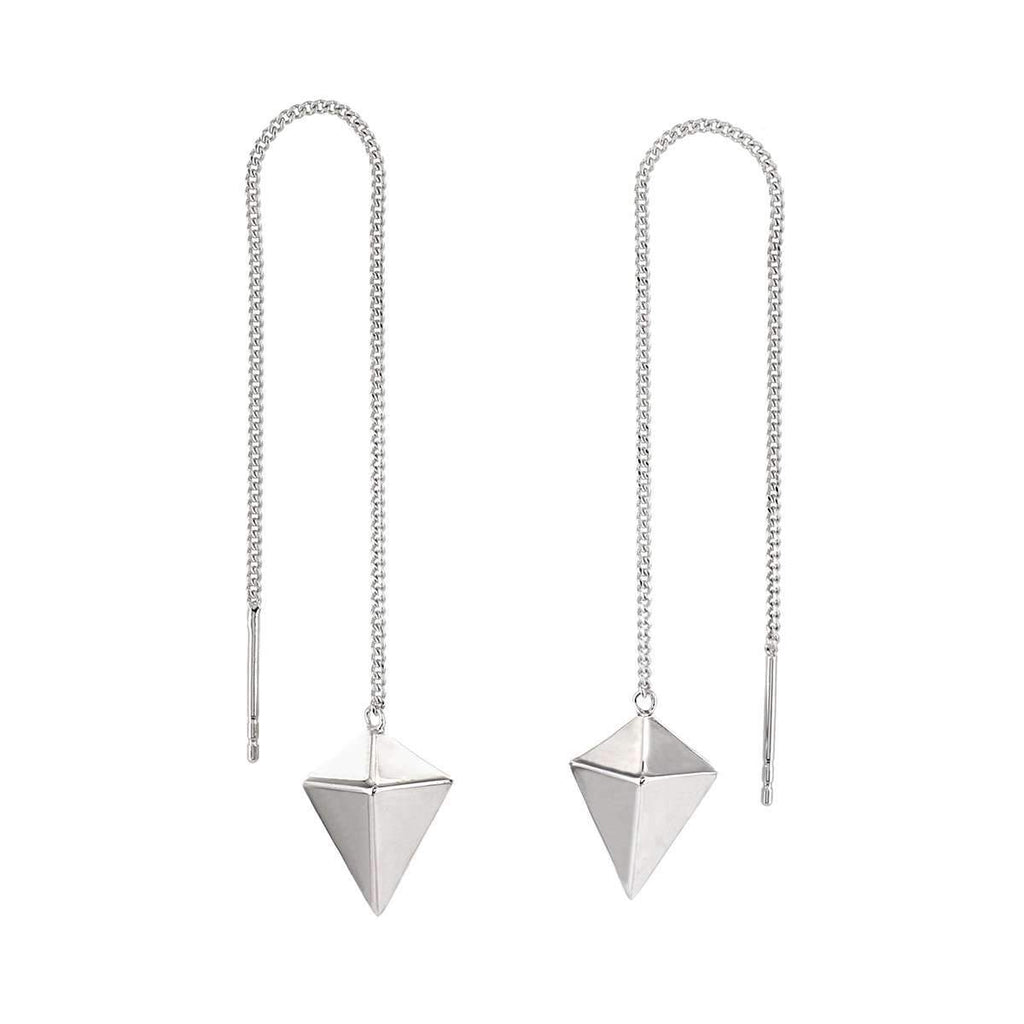 The Decagem Silver Chain Earrings