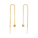 Magic Ball Gold Chain Earrings