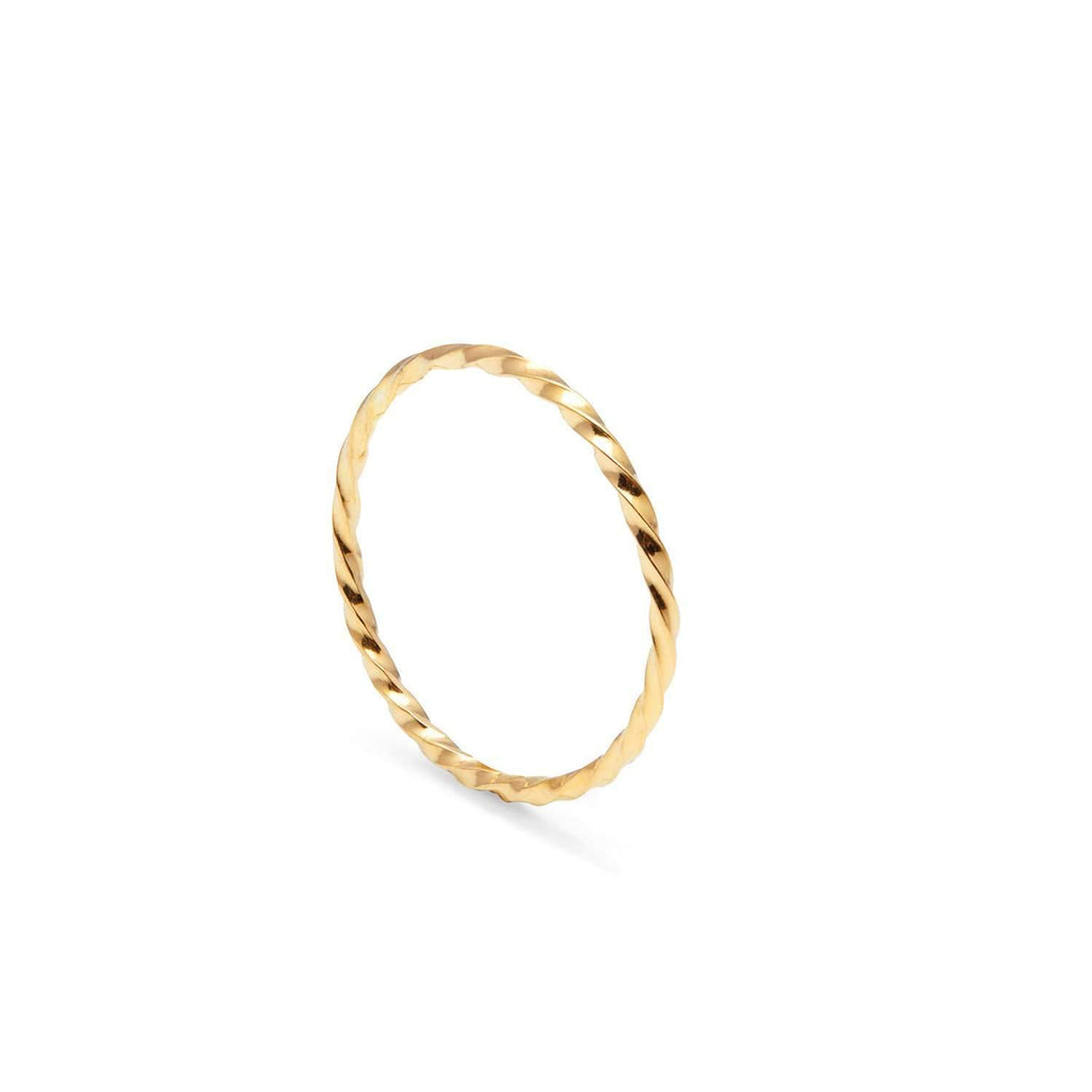 Skinny Twist Stacking Ring