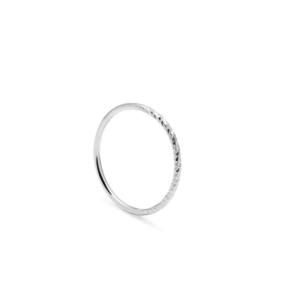 Diamond Paradox Skinny Stacking Ring - Silver - Myia Bonner Jewellery