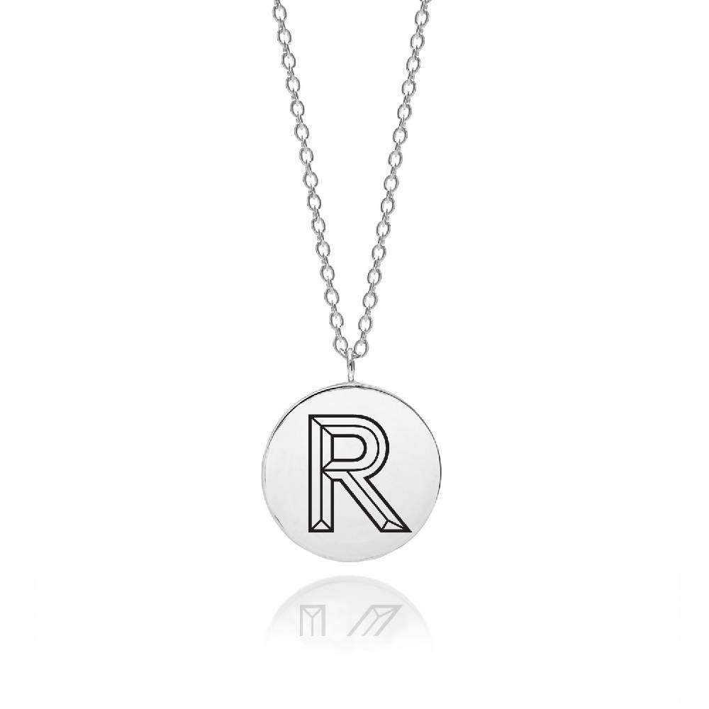 Sterling Silver Facett Initial R Pendant