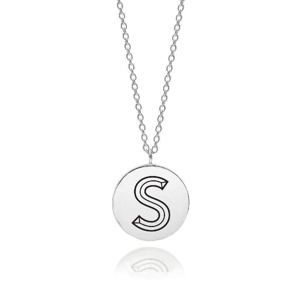 Sterling Silver Facett Initial S Pendant