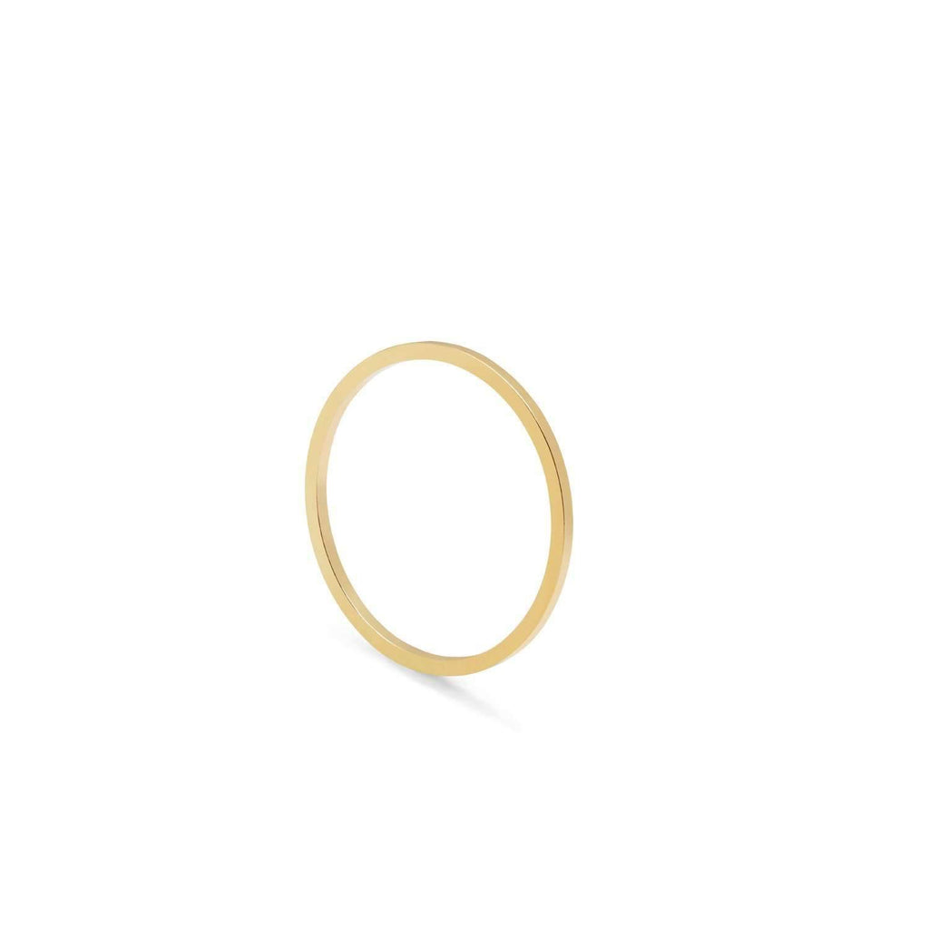 Ultra Skinny Square Stacking Ring - 9k Yellow Gold