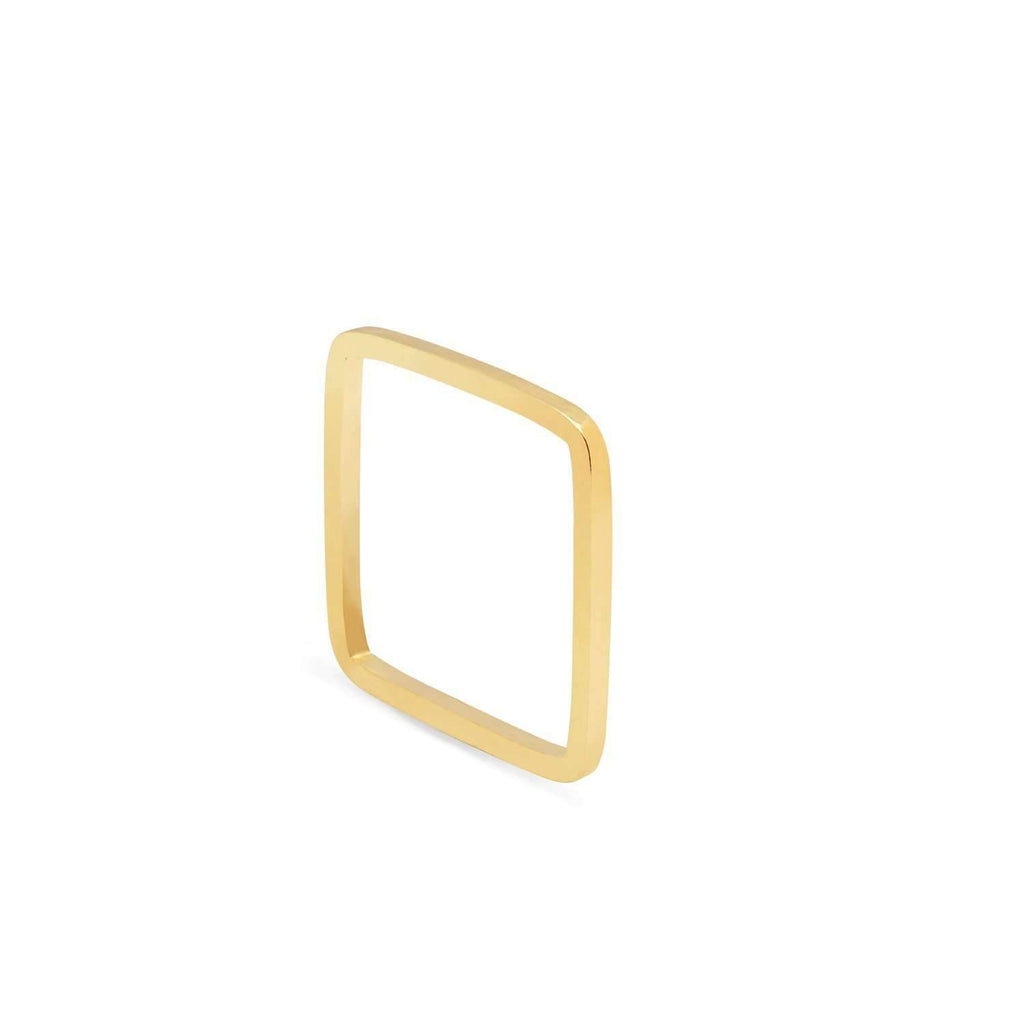 Square Ring - 9k Yellow Gold