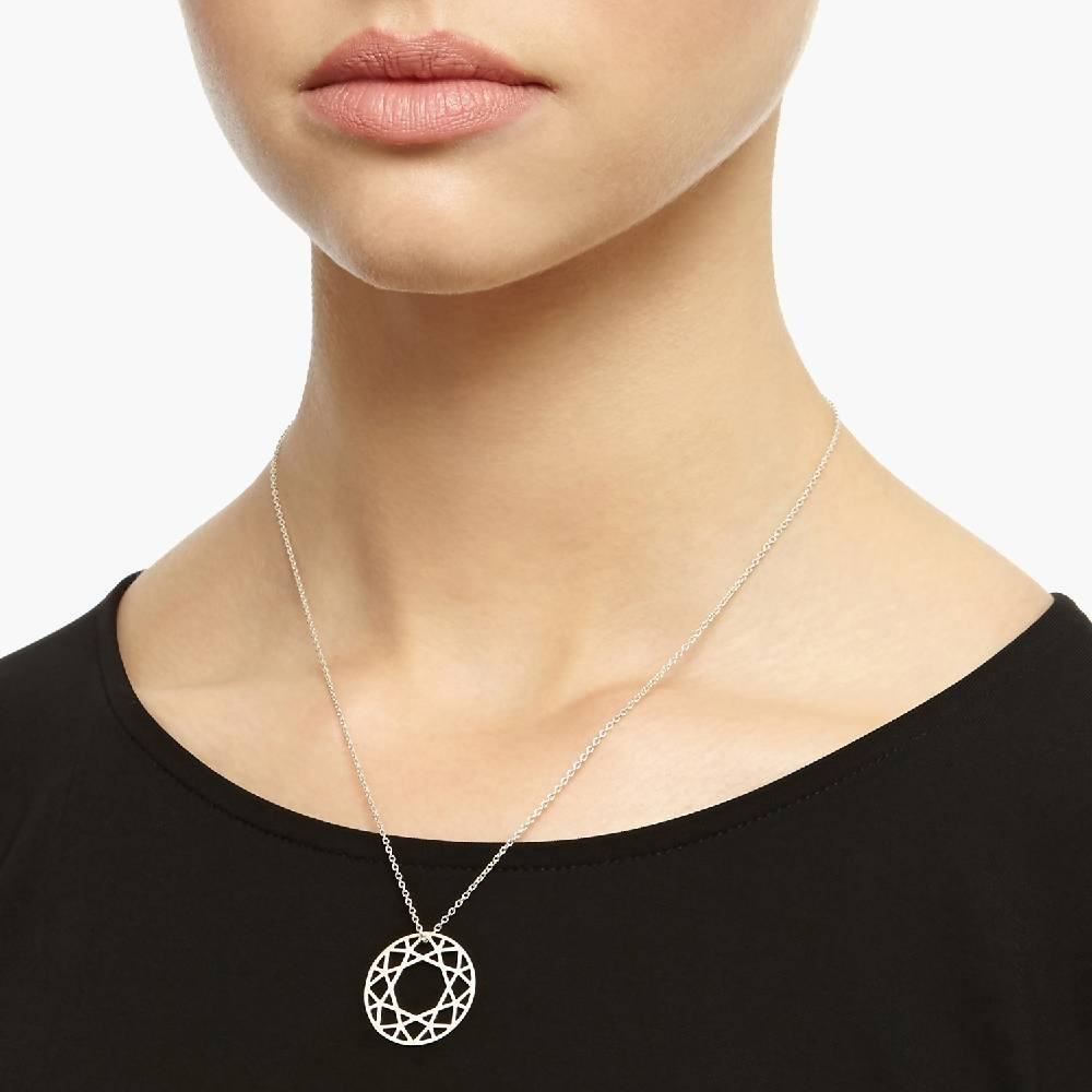 Medium Brilliant Diamond Necklace - Silver