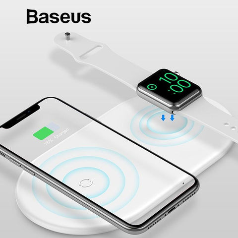 Baseus 2 in 1 Wireless Charger Pad For Apple Watch iPhone - Chestter.co