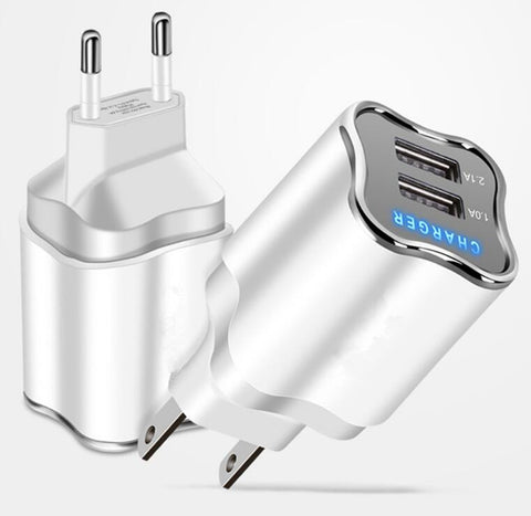 EU/US Plug 2 Port USB Charger 5V 2.1A Wall Adapter Mobile Phone Charger For Samsung - Chestter.co
