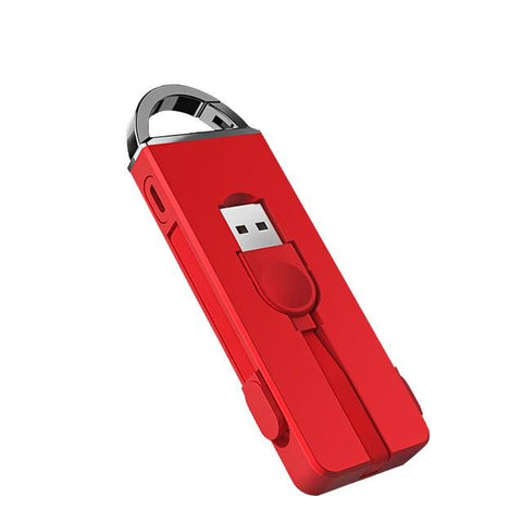 Folding Keychain 3 in 1 Charging Micro USB Cable For iPhone & Type C - Chestter.co