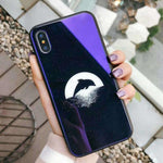 Glass Moon Stars Astronaut Case For iPhone X Phone Cases For iPhone - Chestter.co