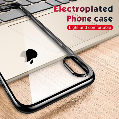 Ultra Thin Plating TPU Case For iPhone - 6/7/8/X/XS - Chestter.co