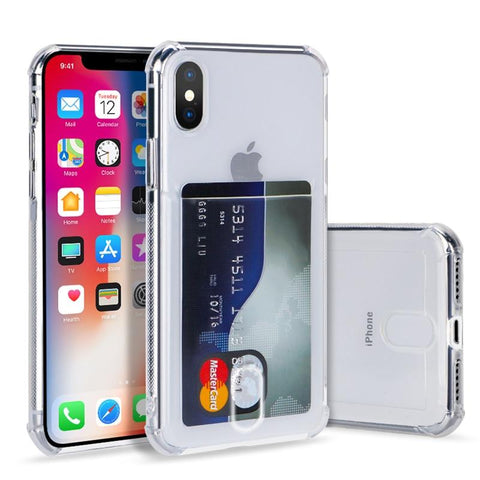 TPU Card Slots Holder Phone clear Case For iPhone - Chestter.co