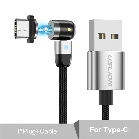 540 Degree Rotating Fast Charging Cable