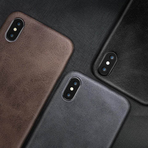 Leather Skin Soft TPU iPhone - 6/7/8/X/11 - Chestter.co