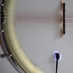 Typical placement of Bartlett Banjo Mic