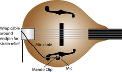 Wireless-ready Mandolin Mic