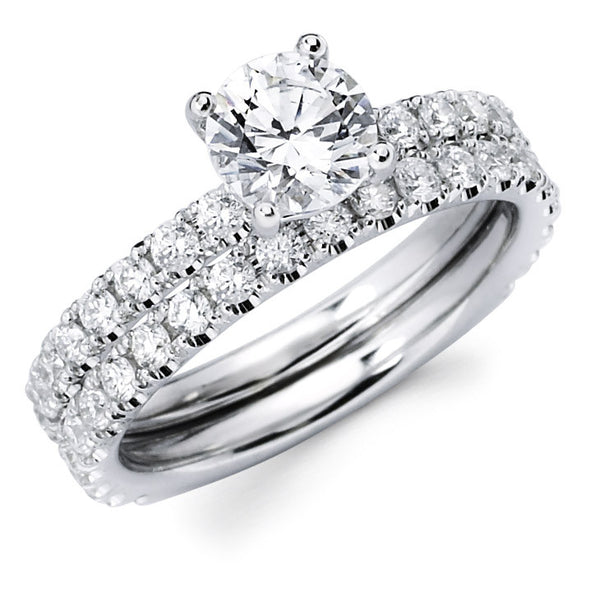 Sophie - Single Row Pavé Bridal Ring Set