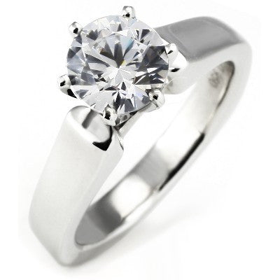 Cathedral Euro Shank Solitaire Engagement Ring