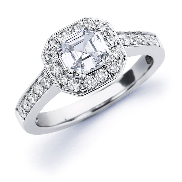Shae - Asscher Halo Engagement Ring