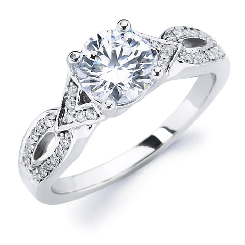 Charlize - Woven Pavé Engagement Ring
