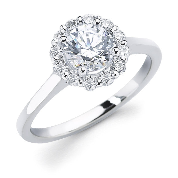 71a98b46ff512 Lily - Flower Round Halo Engagement Ring | Luxe Wholesale Diamonds