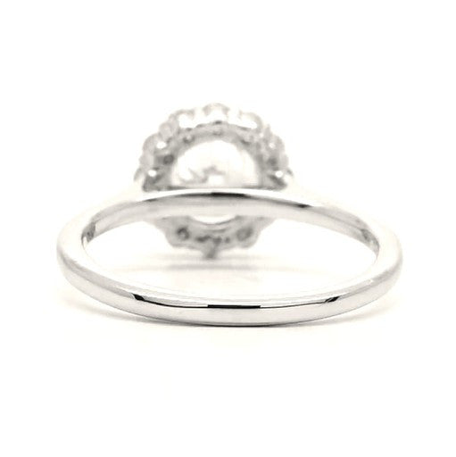 Lily - Flower Round Halo Engagement Ring