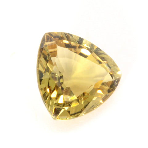 1.53ct Trillion Tourmaline Yellow 7.8mm Natural Unheated Mozambique