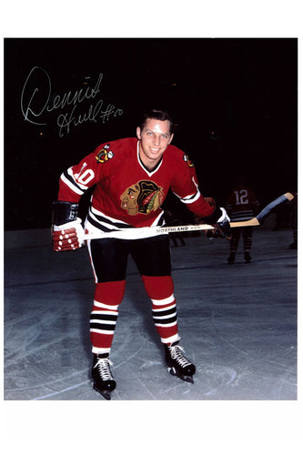Chicago Blackhawks Dennis Hull Autograph 8x10 Photo