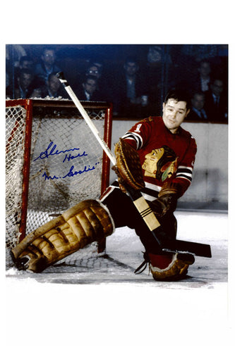 Chicago Blackhawks Glenn Hall Autograph 8x10 Photo