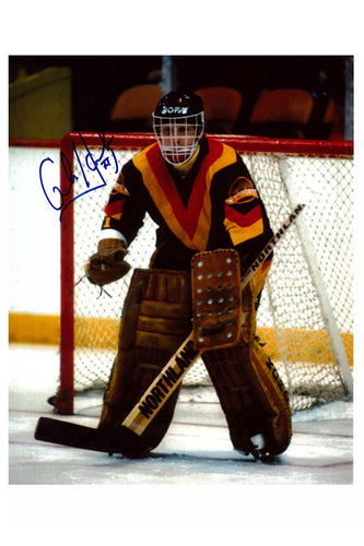 Vancouver Canucks Glen Hanlon Autograph 8x10 Photo