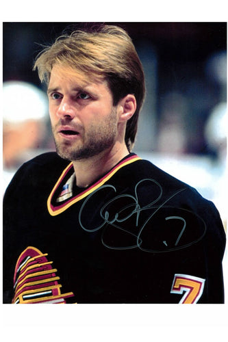 Vancouver Canucks Cliff Ronning Autograph 8x10 Photo