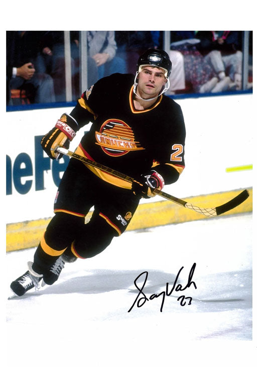Vancouver Canucks Gary Valk Autograph 8x10 Photo