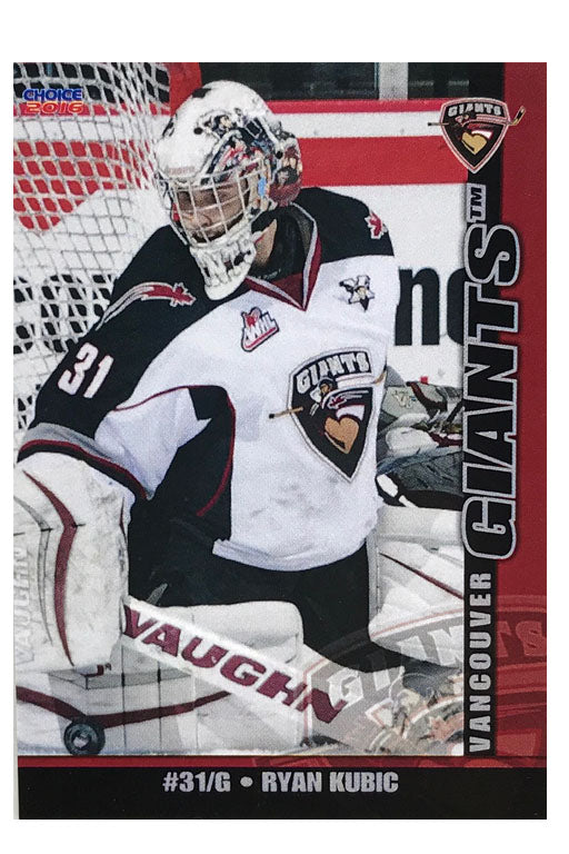 Vancouver Giants WHL 15/16 Team Card Set