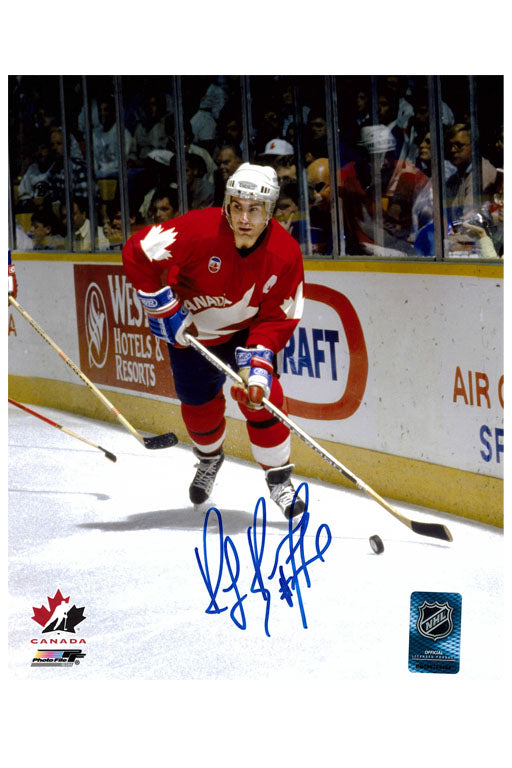 Team Canada Ray Bourque 8x10 Autograph Photo